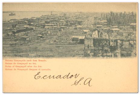 从1902年的火灾来到厄瓜多尔火控标记
