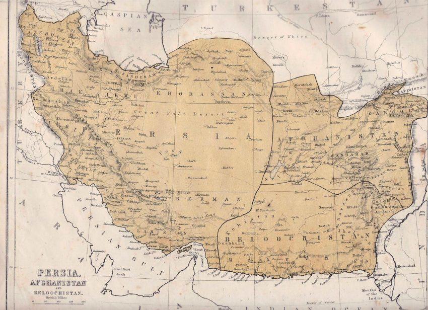 地图 -  Persia-Afghanistan-1871