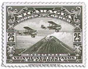 尼加拉瓜:第一个航空邮票