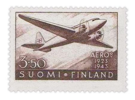 芬兰邮票:航空邮政服务20周年(1944年)
