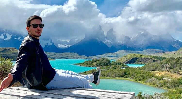Vista panorámica en Torres del Paine