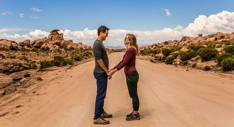 Couple on the desert