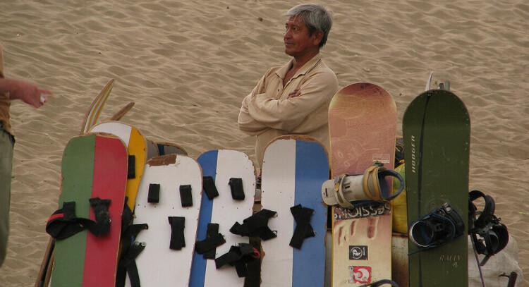 Dunes and boards in Conache