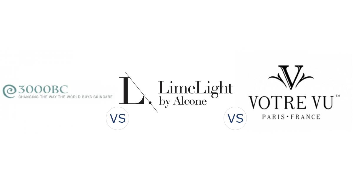 3000BC vs. LimeLight by Alcone vs. Votre Vu