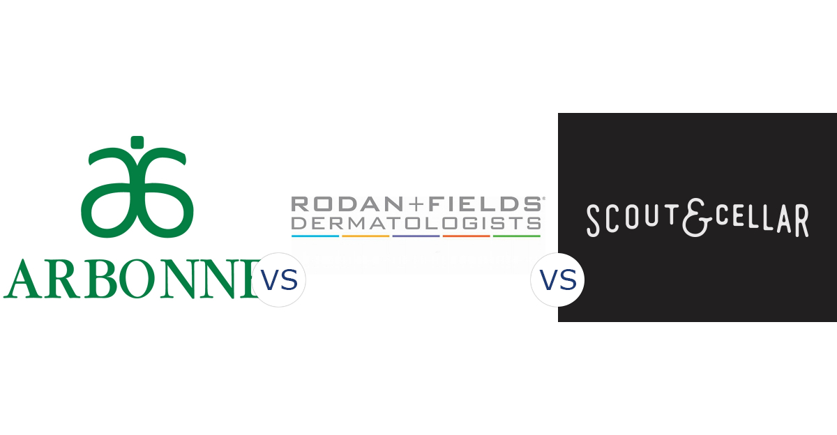 Arbonne vs. Rodan + Fields vs. Scout & Cellar Wines