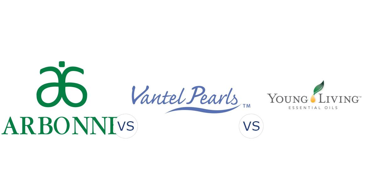 Arbonne vs. Vantel Pearls vs. Young Living Essential Oils