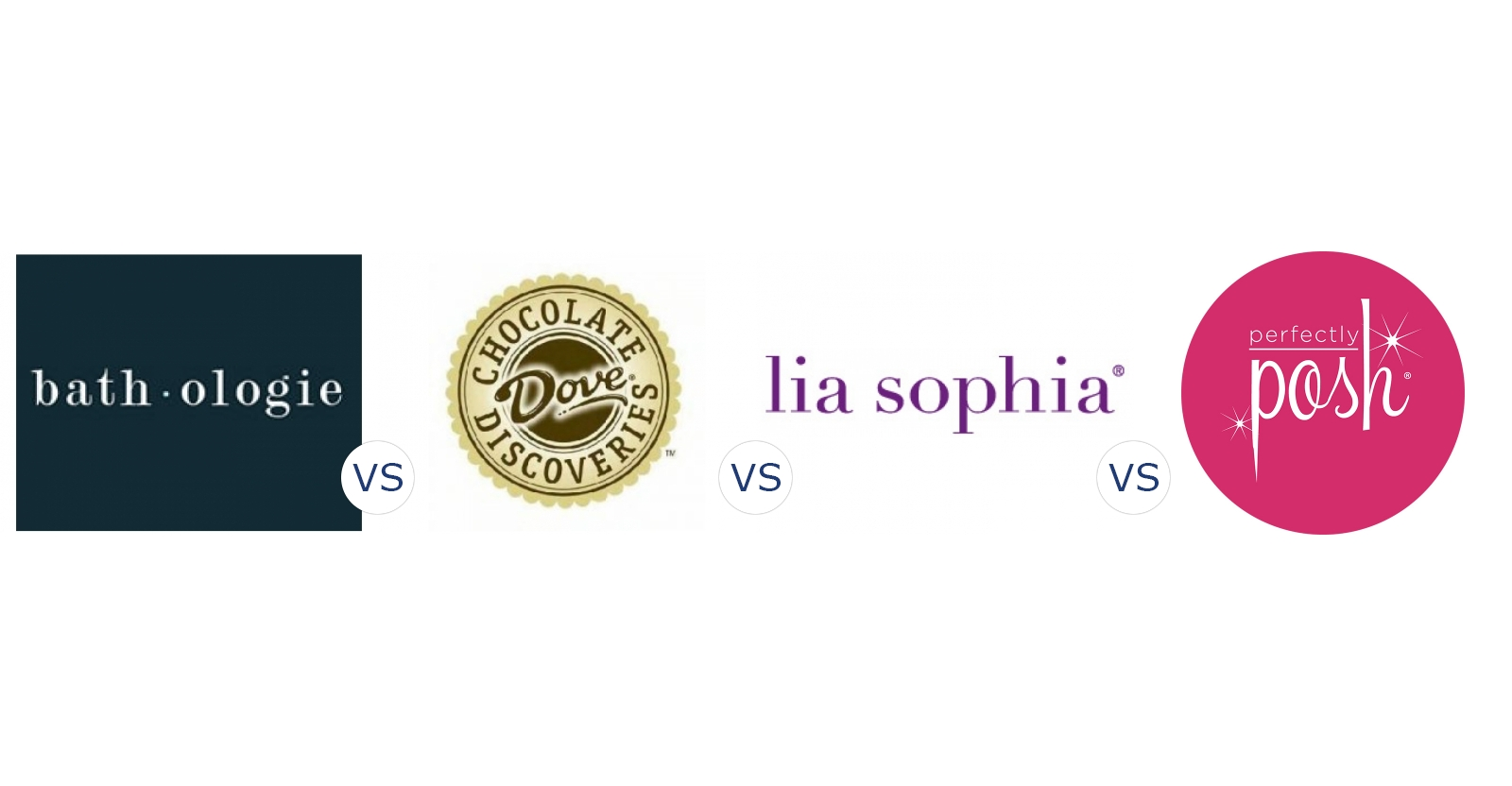 Bathologie vs. Dove Chocolate Discoveries vs. Lia Sophia vs. Perfectly Posh