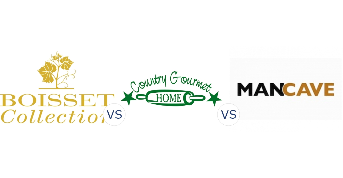 Boisset Collection vs. Country Gourmet Home vs. Man Cave Worldwide