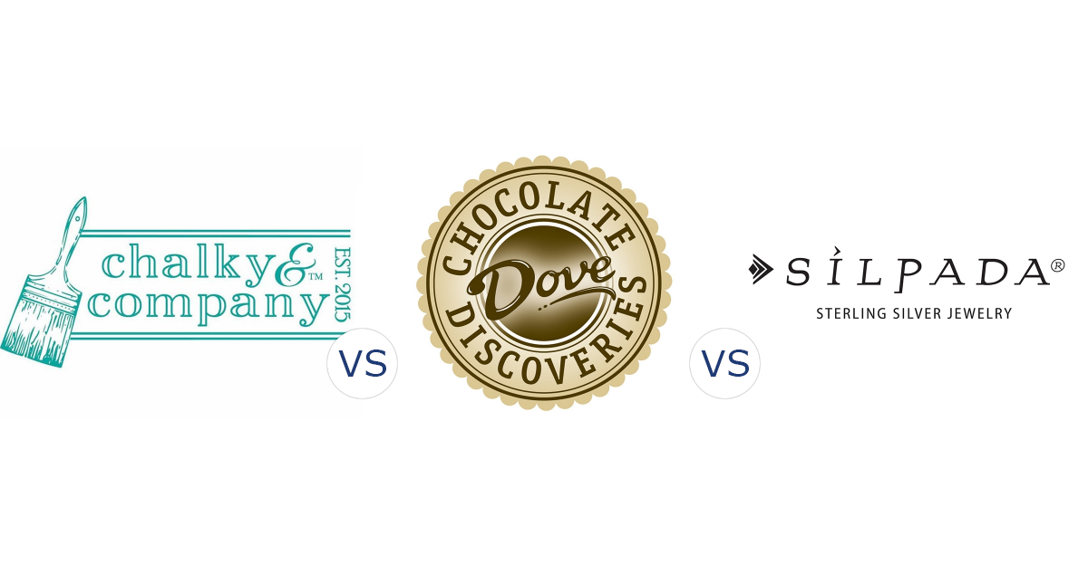 Chalky & Company vs. Dove Chocolate Discoveries vs. Silpada Designs
