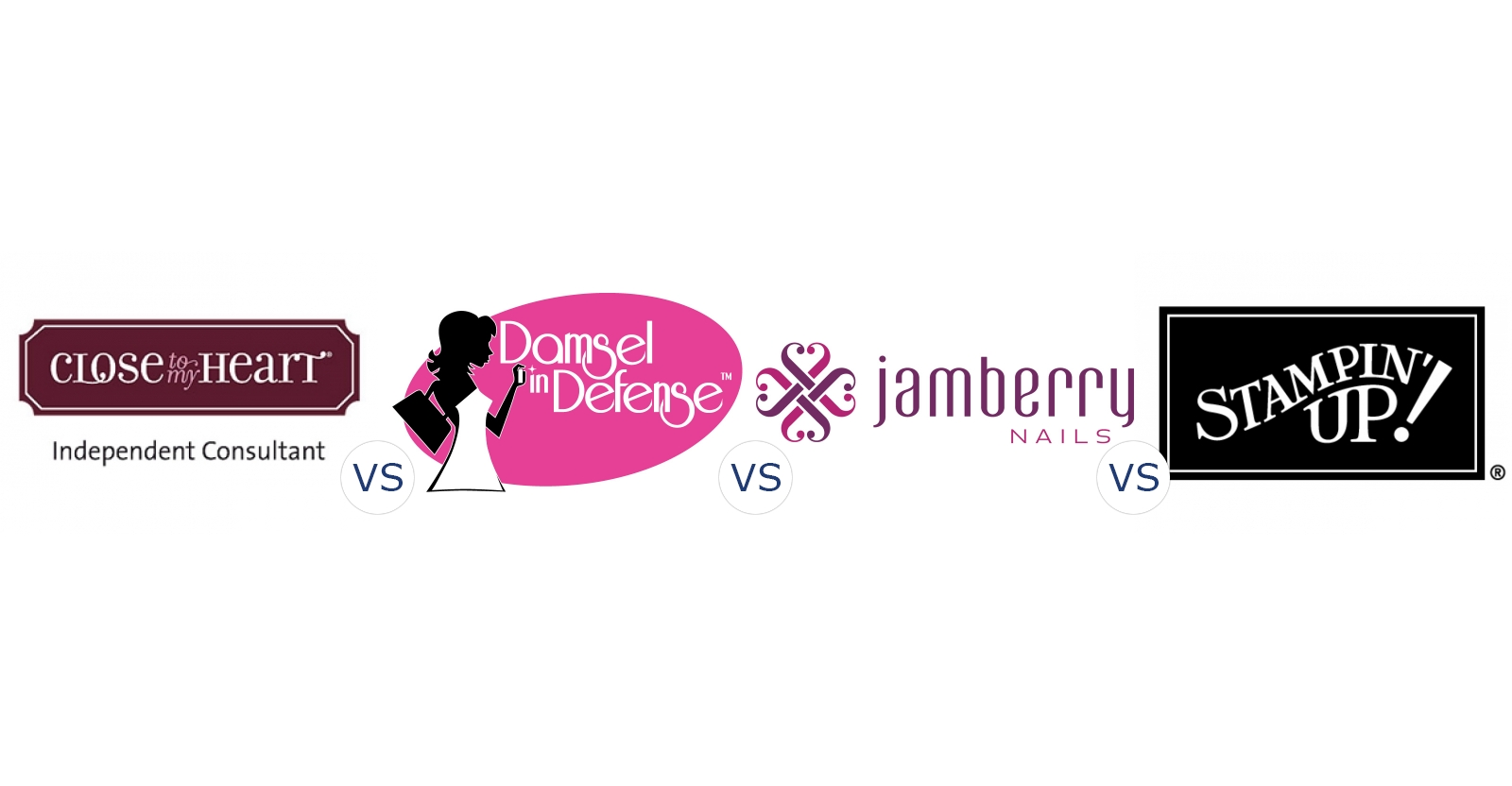 Close to My Heart vs. Damsel In Defense vs. Jamberry Nails vs. Stampin Up