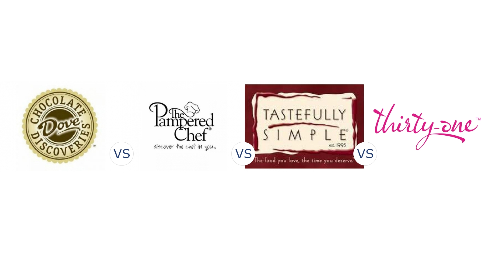 Dove Chocolate Discoveries vs. Pampered Chef vs. Tastefully Simple ...