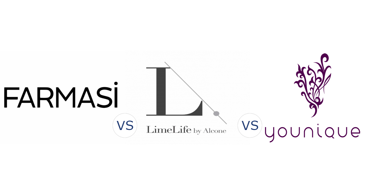 Farmasi vs. LimeLife by Alcone vs. Younique