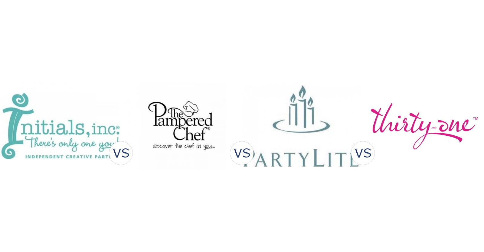 Initials Inc Vs Pampered Chef Vs Partylite Vs Thirty