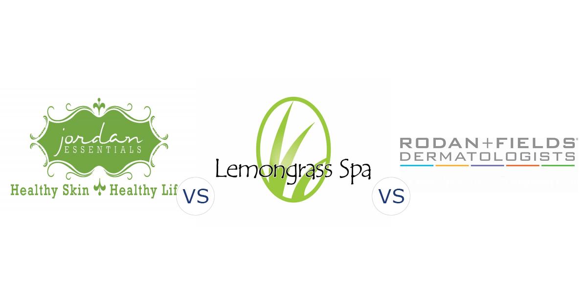 Jordan Essentials vs. Lemongrass Spa vs. Rodan + Fields