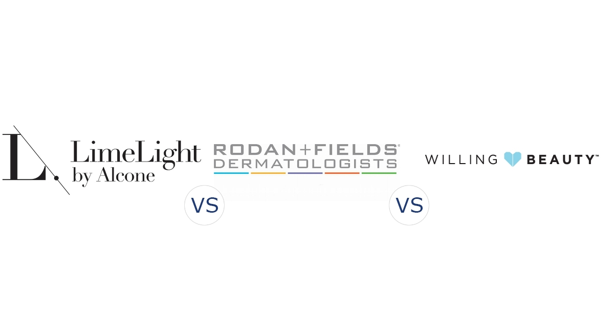 LimeLight by Alcone vs. Rodan and Fields vs. Willing Beauty