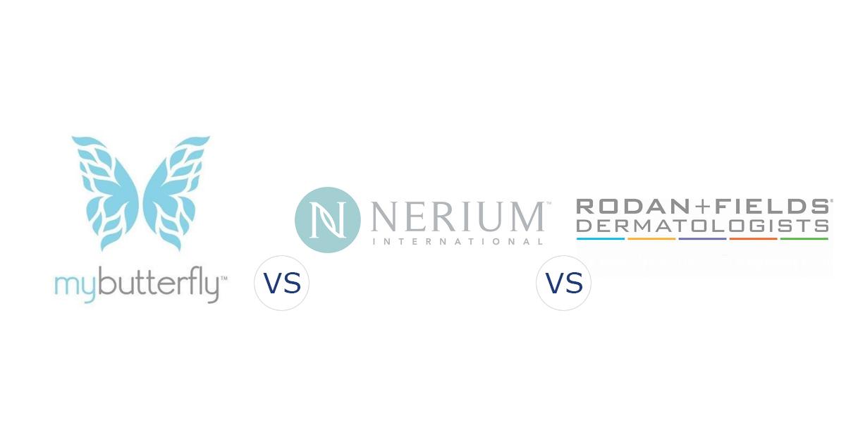 My Butterfly Beauty vs. Nerium International vs. Rodan + Fields