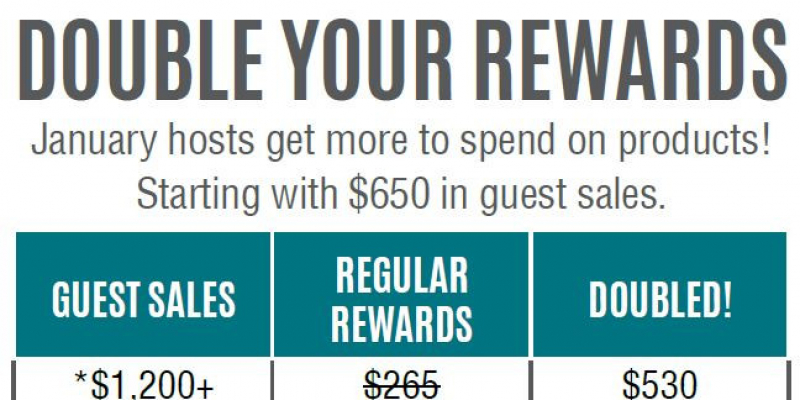 JANUARY DOUBLE HOSTS REWARDS - RARE LIMITED OFFER
