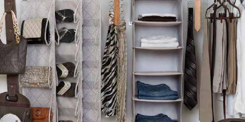 Clever Container Closet Idea