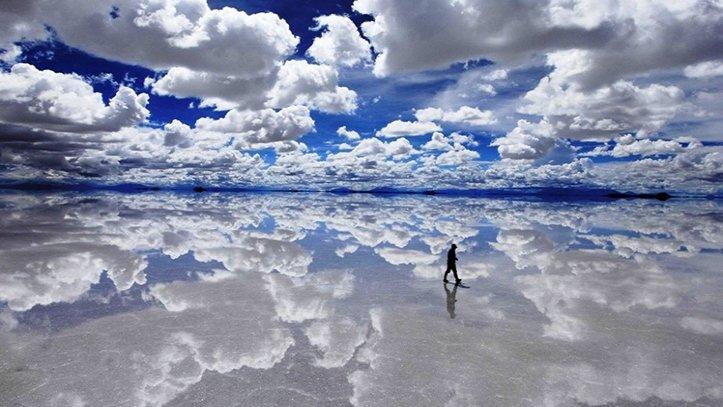 Salar de Uyuni efecto espejo
