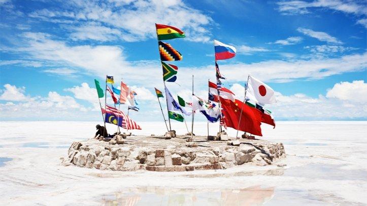 Banderas Salar de Uyuni