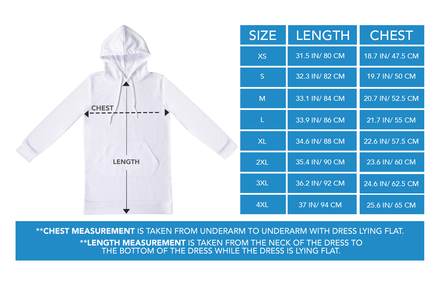 Hoodie Dress Sizing