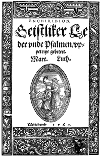 Ornamental Title Page from Slüter Hymnal