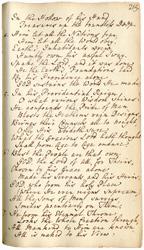 Charles Wesley Psalms manuscript