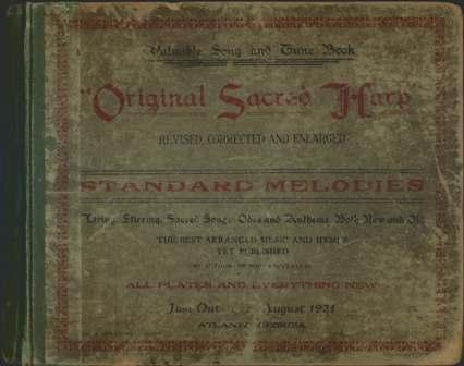 1911 Original Sacred Harp Cover
