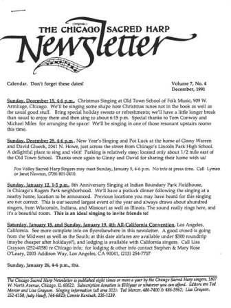 Chicago Newsletter