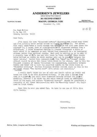 1981 McGraw Letter