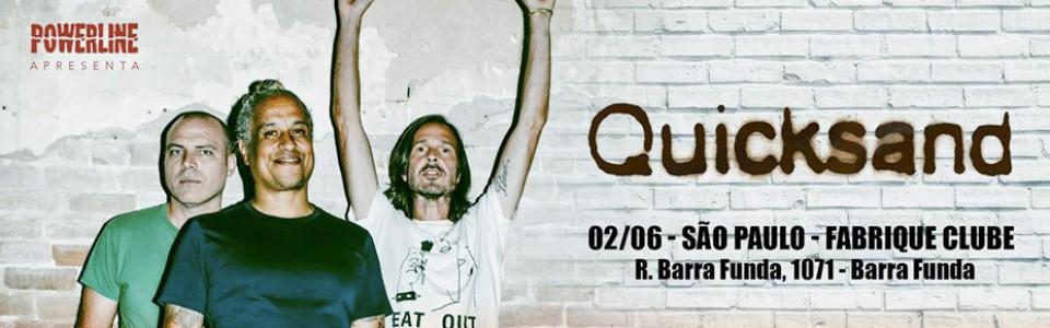 Quicksand, banda histórica do rock alternativo,   estreia no Brasil com shows no início de junho