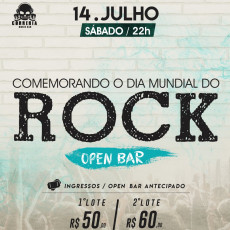 "DIA MUNDIAL DO ROCK - ""OPEN BAR ROCK FEST"""
