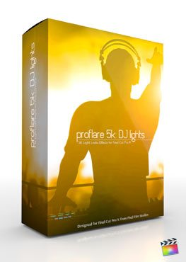 Final Cut Pro X Plugin ProFlare 5K DJ Lights from Pixel Film Studios
