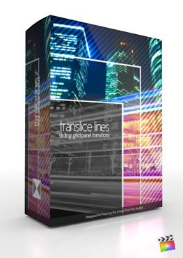 Final Cut Pro X Plugin TranSlice Lines from Pixel Film Studios