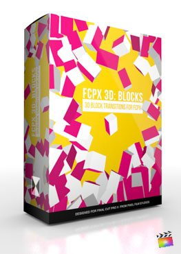 Final Cut Pro X Plugin FCPX 3D Blocks from Pixel Film Studios