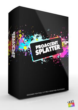 Final Cut pro X Plugin ProAccent Splatter from Pixel Film Studios