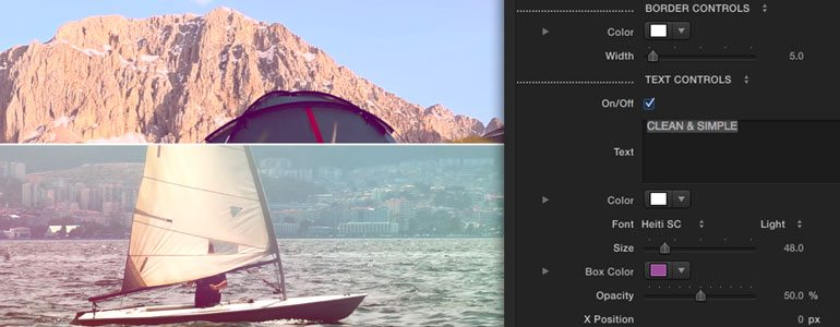 Professional - Split Screen Transition - for Final Cut Pro X