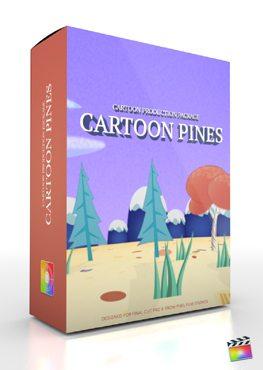 Final Cut Pro X Plugin Production Package Cartoon Pines from Pixel Film Studios
