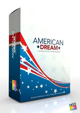 Final Cut Pro X Plugin Production Package Theme American Dream from Pixel Film Studios