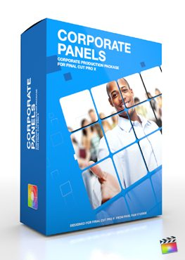 Final Cut Pro X Plugin Production Package Theme Corporate Panels from Pixel Film Studios
