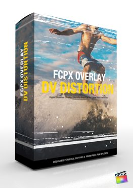 Final Cut Pro X Plugin FCPX Overlay DV Distortion from Pixel Film Studios