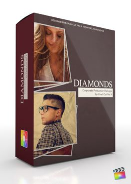Final Cut Pro X Plugin Production Package Theme Diamonds from Pixel Film Studios