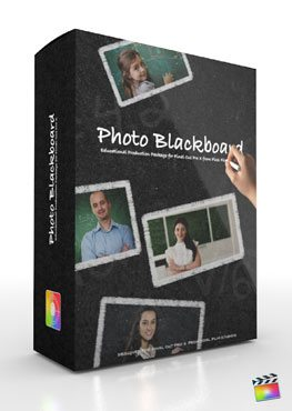 Final Cut Pro X Plugin Production Package Theme Photo Blackboard from Pixel Film Studios