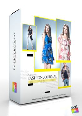 Final Cut Pro X Plugin Production Package Theme Fashion Journal from Pixel Film Studios