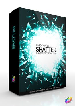 Apple Motion 5 Plugin InMotion 3D Shatter from Pixel Film Studios