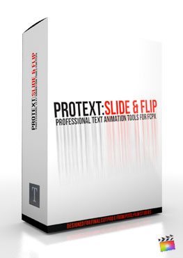 Final Cut Pro X Plugin ProText Slide & Flip from Pixel Film Studios