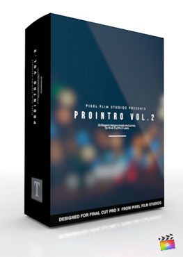Final Cut Pro X Plugin ProIntro Volume 2 from Pixel Film Studios
