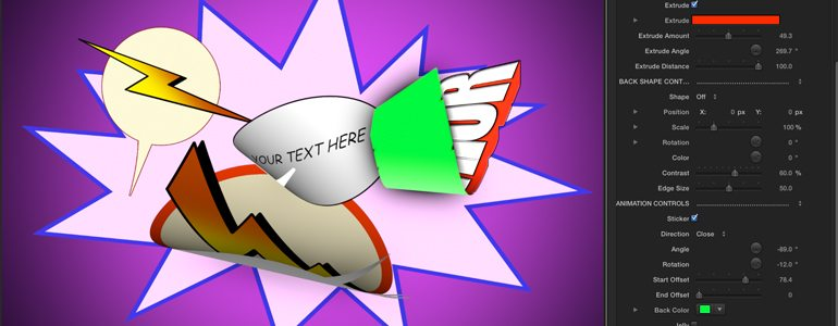 Professional - Comic Book Stickers for Final Cut Pro X - for Final Cut Pro X