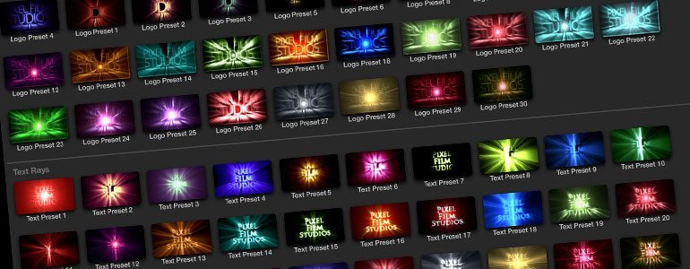 Professional - Text Rays for Final Cut Pro X - for Final Cut Pro X