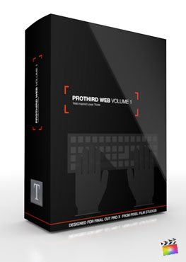 Final Cut Pro X Plugin Pro3rd Web Volume 1 from Pixel Film Studios